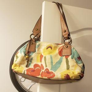Fossil canvas handbag/shoulder bag.